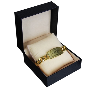 Picture of Texas Holdem Gold Poker Bracelet