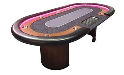 Image sur Poker table LED with Dealer 96
