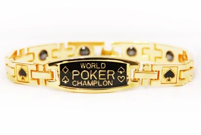 Image sur 100392 -  Anti-Fatigue Gold Poker Bracelet