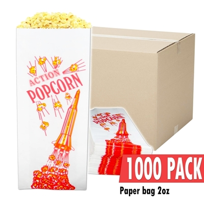 Picture of 70002-Case of 1000 empty 2oz popcorn bags